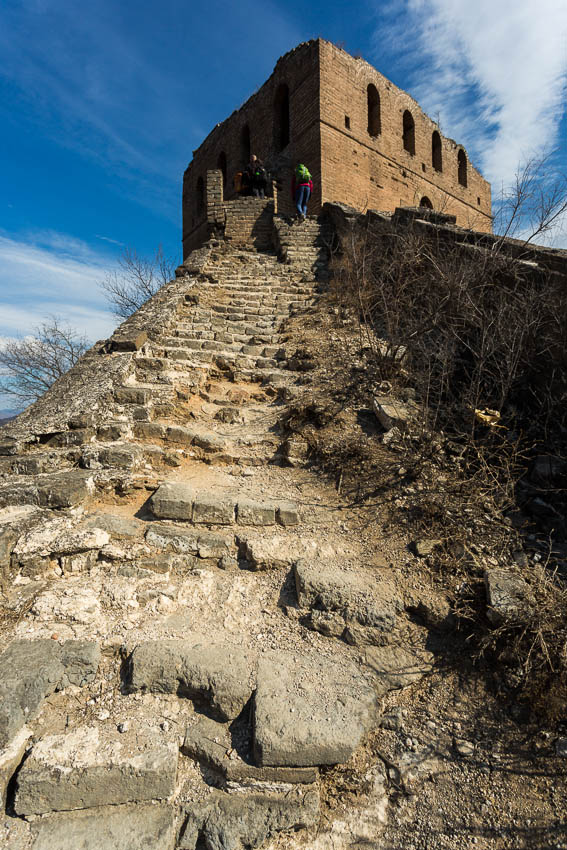 Gubeikou: Picture of steep steps on the Great Wall.