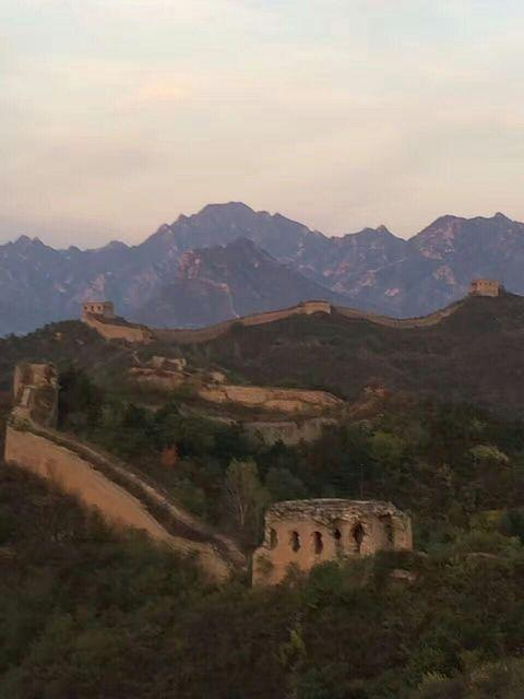 Picture of Great Wall camping.