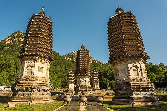 Silver Pagodas: Picture of Silver Mountain pagodas.