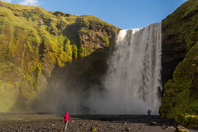 Iceland: Picture of Skógafoss.
