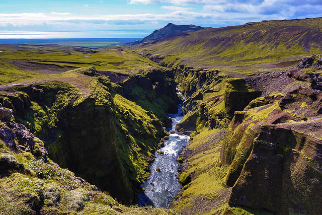 Iceland: Picture of Skógá river.