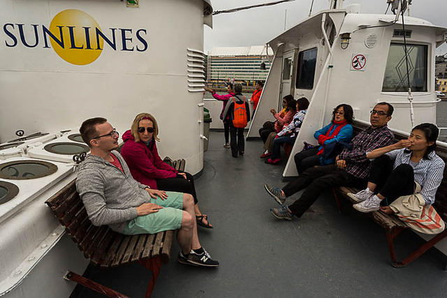 Finland: Picture of ferry to Suomenlinna.
