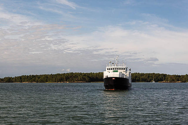 Finland: Picture of big ferry.