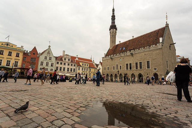 Finland: Picture of square in Tallinn.
