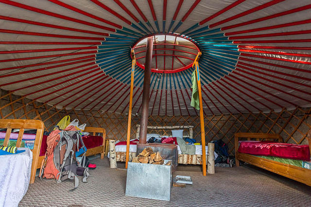 Mongolia: Picture of inside of ger.