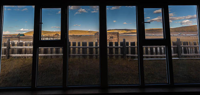 Mongolia: Picture of window.