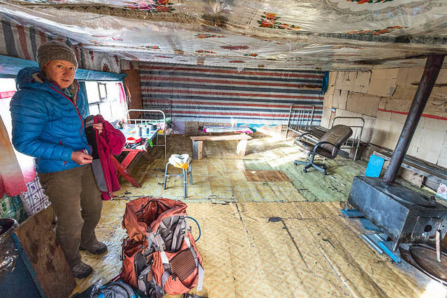 Mongolia: Picture of inside of cabin.