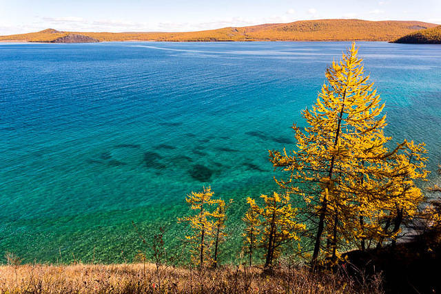 Mongolia: Picture of Khuvsgul Lake.