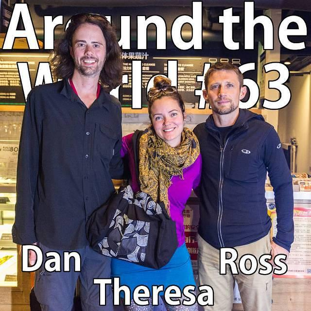 Yoga: Picture of Dan, Theresa and Ross.
