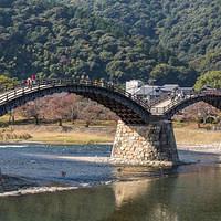 A historical bridge in the city of Iwakuni.