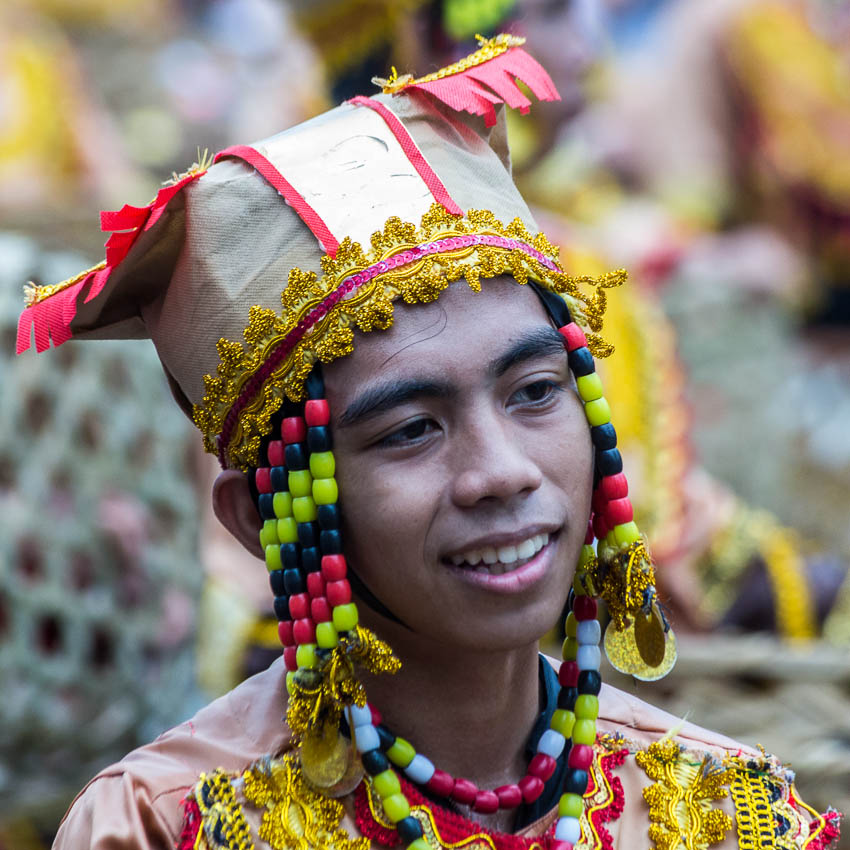 Picture of man at Sinulog.