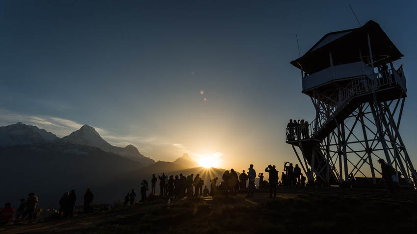 Picture of Poon Hill, with people.