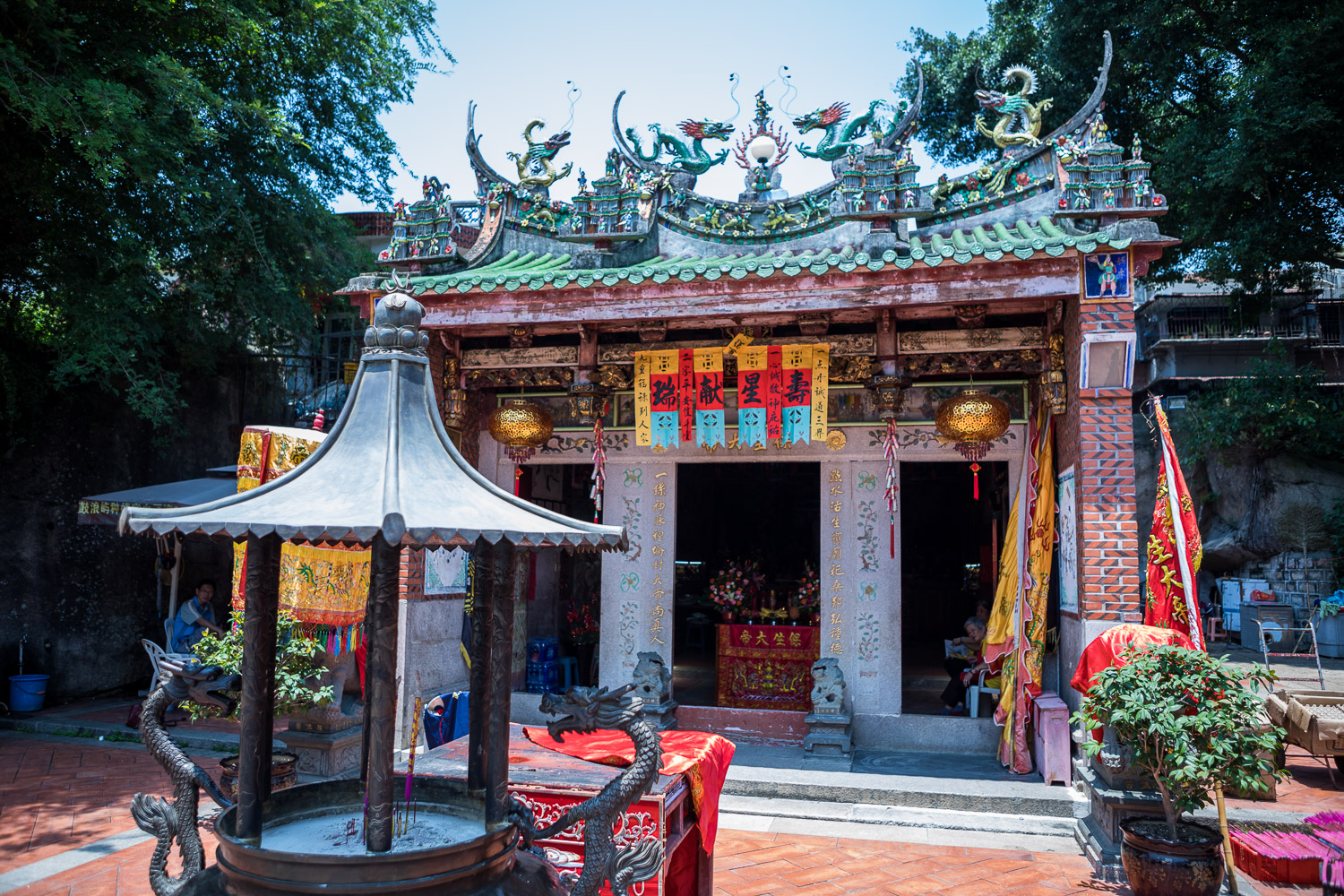 Gulang Yu: Picture of temple.