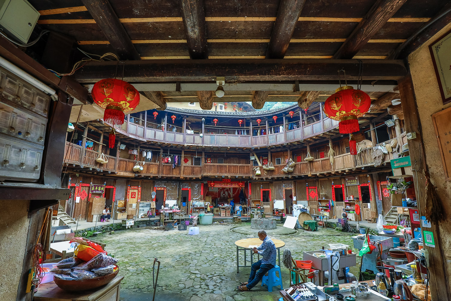 Picture of inside a tulou.