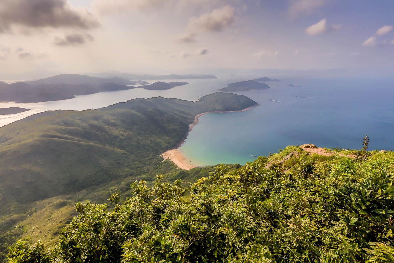 Picture of Sai Kung peninsula from Sharp Peak.