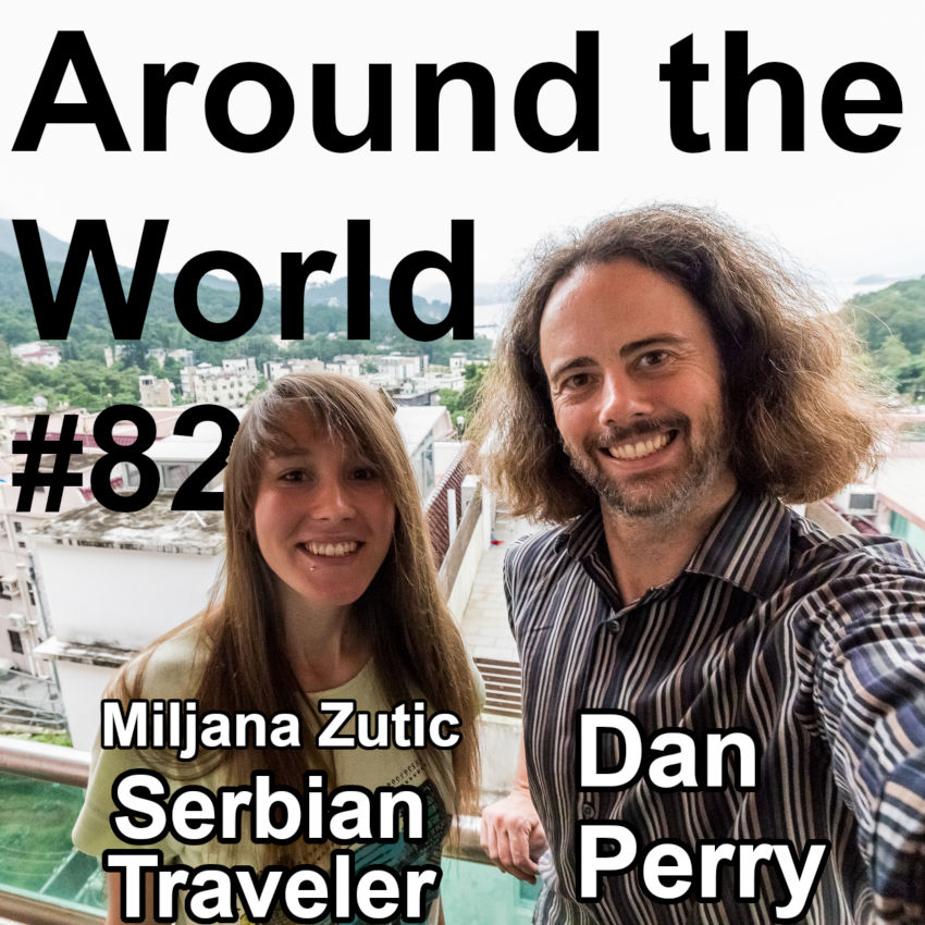 Picture of Serbian Traveler Miljana Zutic and Dan Pery.