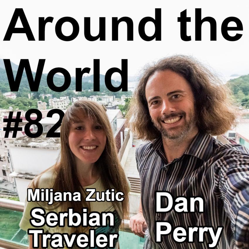 Picture of Serbian Traveler Miljana Zutic and Dan Pery.
