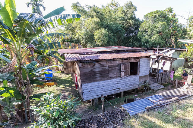 Picture of wooden house on stilts.