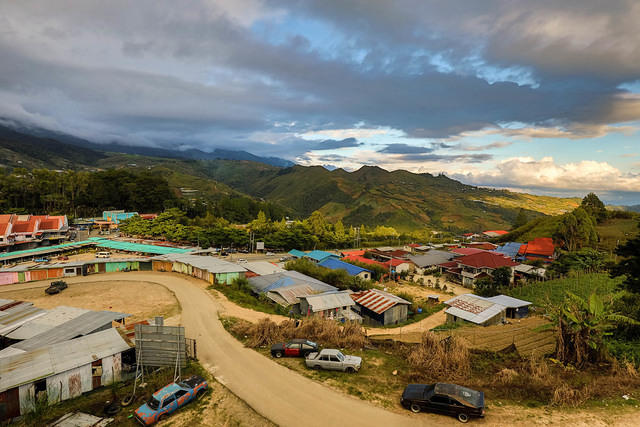 Picture of Kundasang at sunset.