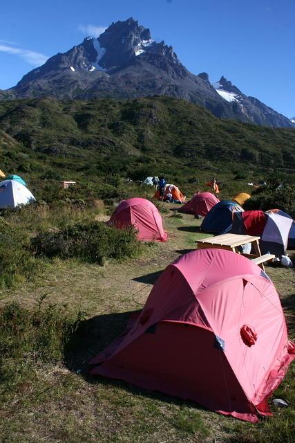 Picture of a campsite.