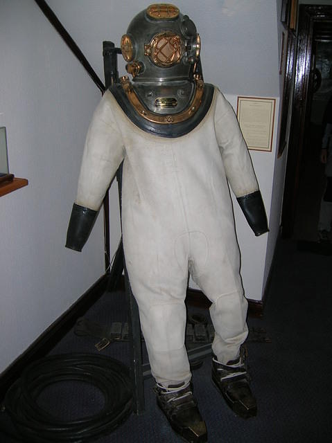 Picture of a diving suit.