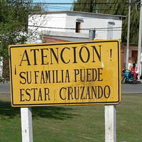 The sign lied to me because my family isn`t in South America, so I threw my chocolate shake at it.