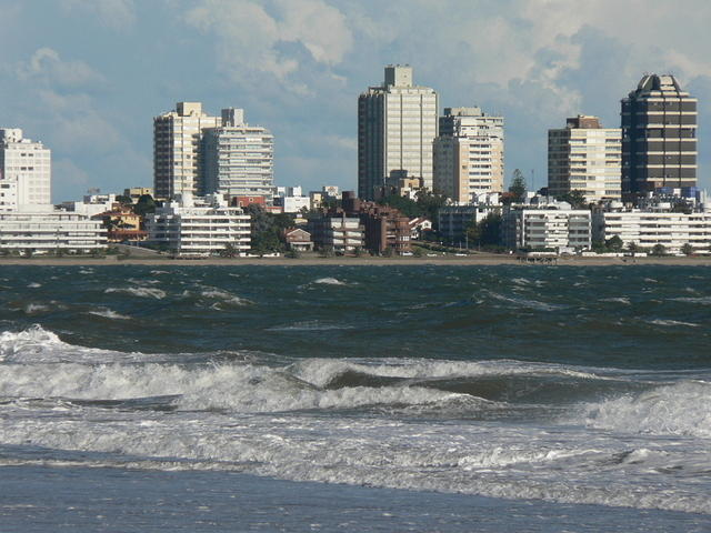 Picture of beach of Punta del Este.