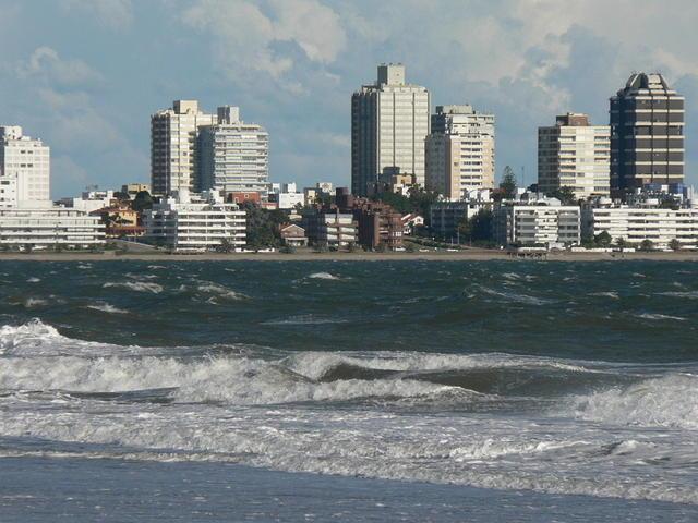 Picture of beach of Punta del Este.